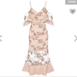 Alice McCall crystallized blush blossom dress 2